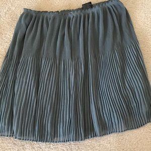 H&M light teal blue pleated skirt